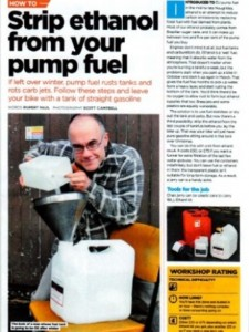 Strip ethanol from your pump fuel
